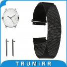 20mm Milanese Loop Watch Band Magnetic Buckle Strap for Ticwatch 2 42mm Qui