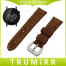 22mm Calf Genuine Leather Watch Band for Motorola Moto 360 2 2nd Gen Men's