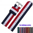 18mm Nylon Watchband for withings activite / Steel / Pop Fabric Watch Band