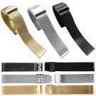 22mm 24mm  Fashion Milanese Stainless Steel 24mm Wrist Watch Band Strap Thr