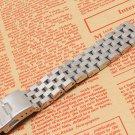 Silver watchband bracelet strap 18mm 20mm 22mm 24mm 26mm High Quality Metal