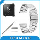 24mm Stainless Steel Watchband 3 Pointer for Sony Smartwatch 2 SW2 Replacem