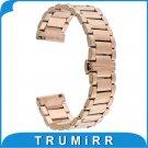 20mm Butterfly Stainless Steel Watch Band Strap Bracelet for Moto 360 2 Gen