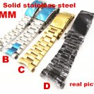 1PCS 22MM Solid Stainless Steel Watch band curved end Watch strap -in Watch