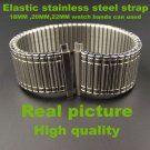 Retail  1PCS High quality Elastic stainless steel strap 18MM ,20MM ,22MM wa