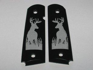 GRIPCRAFTER Black polymer 'Deerhunter' COLT KIMBER 1911 Grips