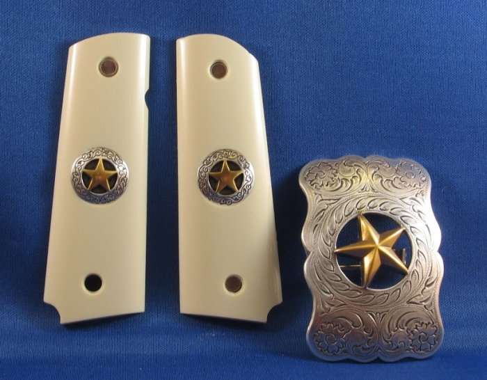 GRIPCRAFTER TEXAS STAR GRIP SET WITH BUCKLE