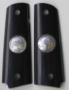 GRIPCRAFTER INDIAN BUFFALO NICKEL FULL SIZE COLT KIMBER 1911 GRIPS