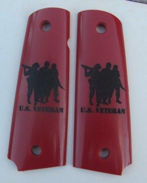 RED GRIPCRAFTER 3 SOLDIER VETERAN 1911 GRIP