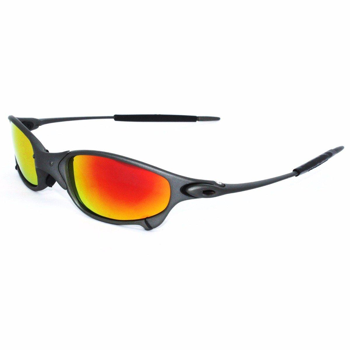 Oakley Juliet Sunglasses x-metal - Black with Red