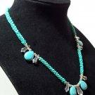 Jade Look Kumihimo Braided Beaded Necklace