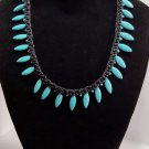 Jade Spike Braided Necklace