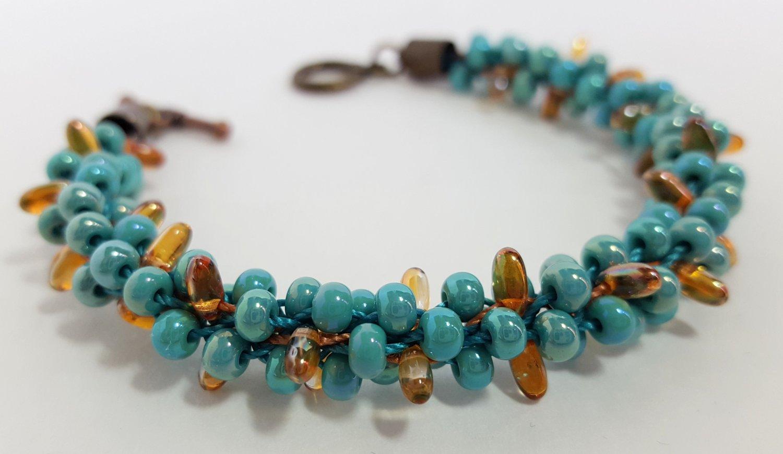 Turquoise Cactus Beaded Bracelet