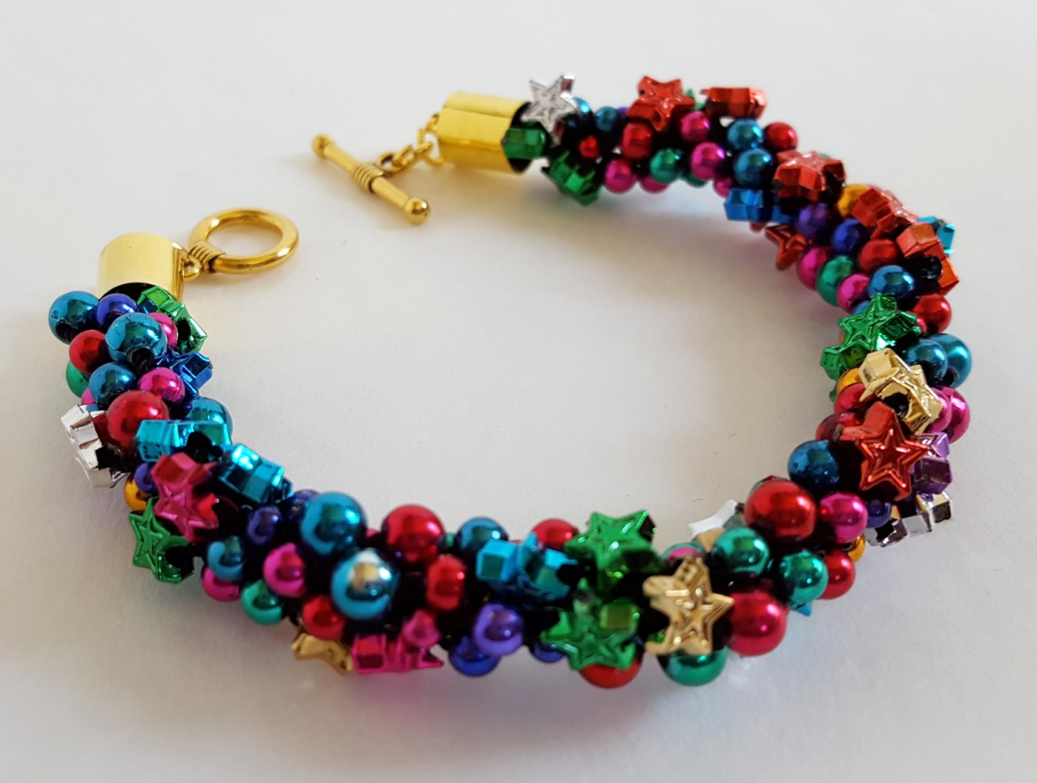Colorful Star Studded Bracelet