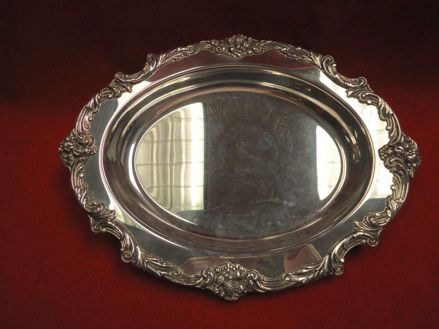 King Francis by Reed & Barton Silverplate Oval Tray