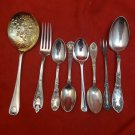 Mixed Lot of Silverplate Flatware with Interesting Patterns