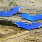 """Batman 3 pcs 6 """" Blue Thrower Set (You Get All Three) with case"""