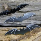 """Batman Bat Silver winged 3 pcs 6 """" Thrower Knife Set (You Get All Three) with case!"""