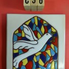 Ceramic Tile 6 x 6 Peace Dove Stained glass window church trivet wall NEW C96
