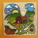 """Ceramic Art Tile 6""""x6"""" Chicken Coop ranch farm rooster barn kitchen wall NEW G65"""