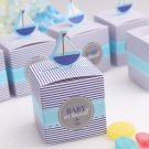 50pc Baby Shower Gift Favor Boxes sailing boat  Candy Box  wedding box