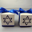 50PC Israel national flag ribbon star Wedding Favor box Gift Candy Box party box