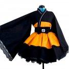 Naruto Shippuden Uzumaki Naruto Cosplay Costume Anime Kimono Dress