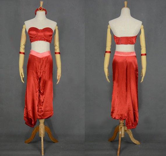 Princess Jasmine Red Cosplay Costume Adult Size From Aladdin's lamp