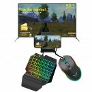 3 In 1 PUBG Controller Mobile Gamepad Cooler Fan Gaming Keyboard Mouse Converter