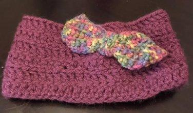 Purple Headband w/Multi Colored Bow
