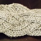 Grey Cable Braided Headband