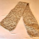 Shades of Beige Crochet Scarf