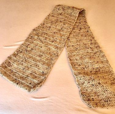 Shades of Beige Crochet Scarf