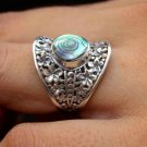 Happiness ring, 925 silver ring, abalone ring jewelry, ethnic jewelry, solid 925 silver jewelry