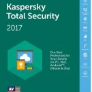 Kaspersky Total Security 2017 1 Device 1 Year EU/UK