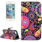 For iPhone 8 & 7 Acaleph Pattern Leather Case with Holder, Card Slots & Wallet