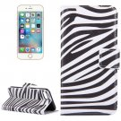 For iPhone 8 & 7 Zebra Pattern Leather Case with Holder, Card Slots & Wallet