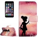 For iPhone 8 & 7 Wishing Girl Pattern Leather Case with Holder, Card Slots & Wallet