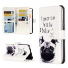 For iPhone 8 & 7 Lapdog Pattern Leather Case with Holder, 9 Card Slots & Wallet