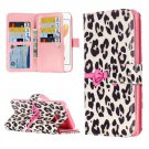 For iPhone 8 & 7 Leopard Pattern Leather Case with Holder, 9 Card Slots & Wallet