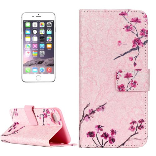 For iPhone 8 & 7 Blossom Pattern Leather Case with Holder, Card Slots & Wallet