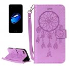 For iPhone 8 & 7 Purple Dream Catcher Crazy Horse Case with Card Slots, Wallet & Lanyard