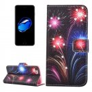 For iPhone 8 & 7 Fireworks Diamond Leather Case with Magnetic Holder, Card Slots, Wallet