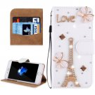 For iPhone 8 & 7 Fevelove Tower Diamond Leather Case with Magnetic Buckle & Card Slots