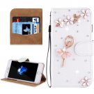 For iPhone 8 & 7 Fevelove Girl Diamond Leather Case with Magnetic Buckle & Card Slots
