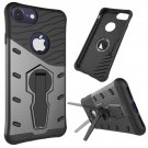 For iPhone 8 & 7 Grey Shock-Resistant 360° Tough Armor TPU+PC Combination Case