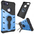 For iPhone 8 & 7 Blue Shock-Resistant 360° Tough Armor TPU+PC Combination Case