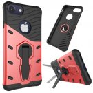 For iPhone 8 & 7 Red Shock-Resistant 360° Tough Armor TPU+PC Combination Case