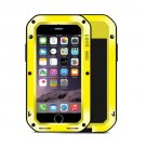 For iPhone 7 Yellow LOVE MEI Professional and Powerful Dust proof Shockproof Anti-slip Metal Case
