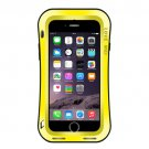 For iPhone 7 Yellow LOVE MEI Waistline Triobump Powerful Dust proof Shockproof Anti-slip Metal Case